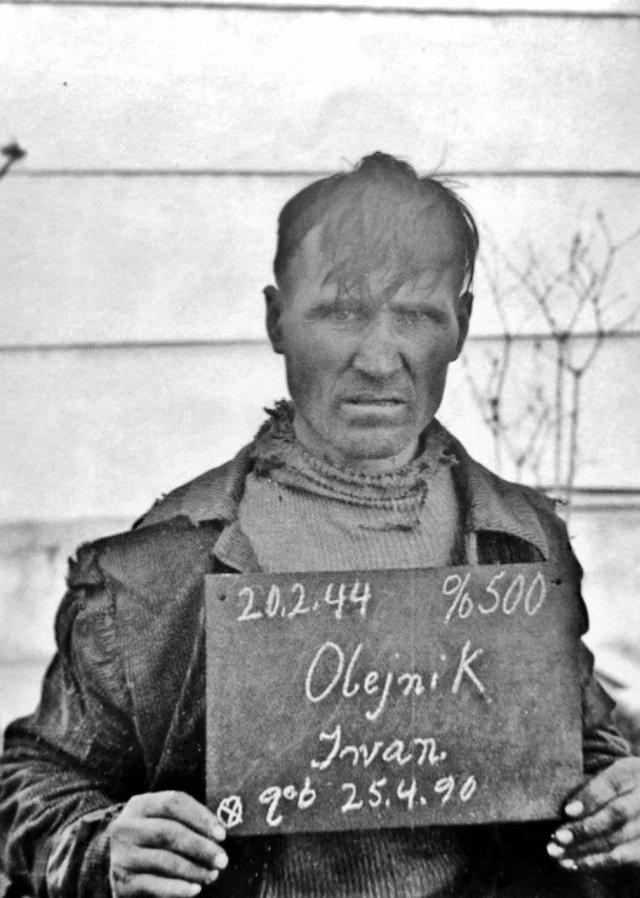 Советский подневольный работник химической фабрики Иван Олейник, Кёльн, 1944 год.