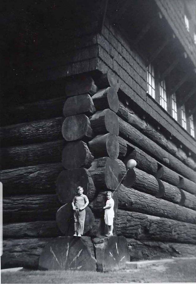 Избушка из секвойи, Риджфилд, Вашингтон, США, 1938 год.