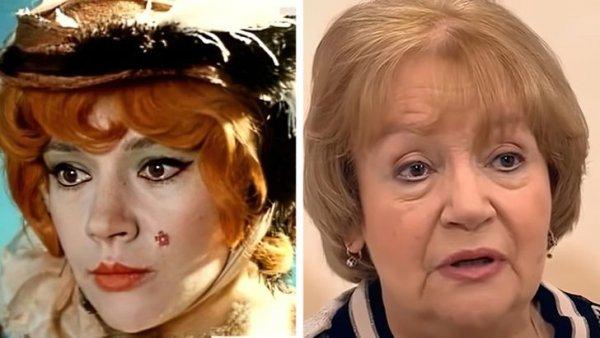 Елена Санаева, «Приключения Буратино» (33 года и 75 лет)