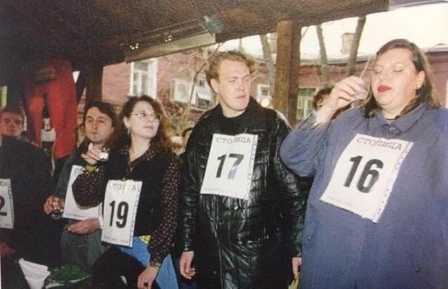 15 ноября 1997 года был проведен первый открытый Чемпионат Москвы по спортивному выпиванию.