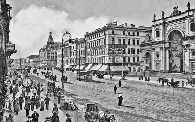 Перспективы Невского проспекта в начале хх века