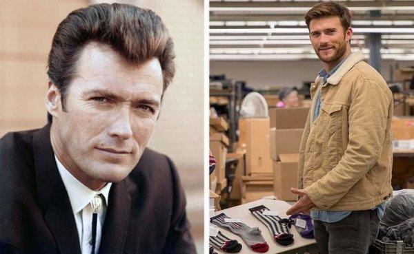 Клинт Иствуд и его сын Скотт Иствуд