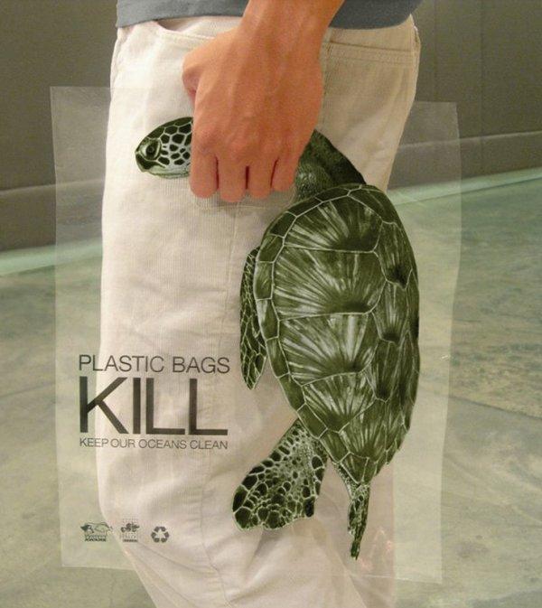 Социальная реклама тоже не отстаёт: призыв о вреде пластика