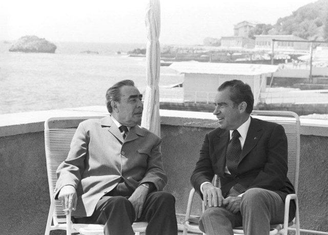 Леонид Брежнев и Ричард Никсон, 1974 год