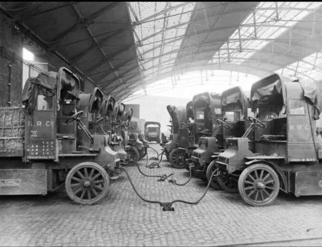 Зарядка электромобилей, Лондон, 1907 год