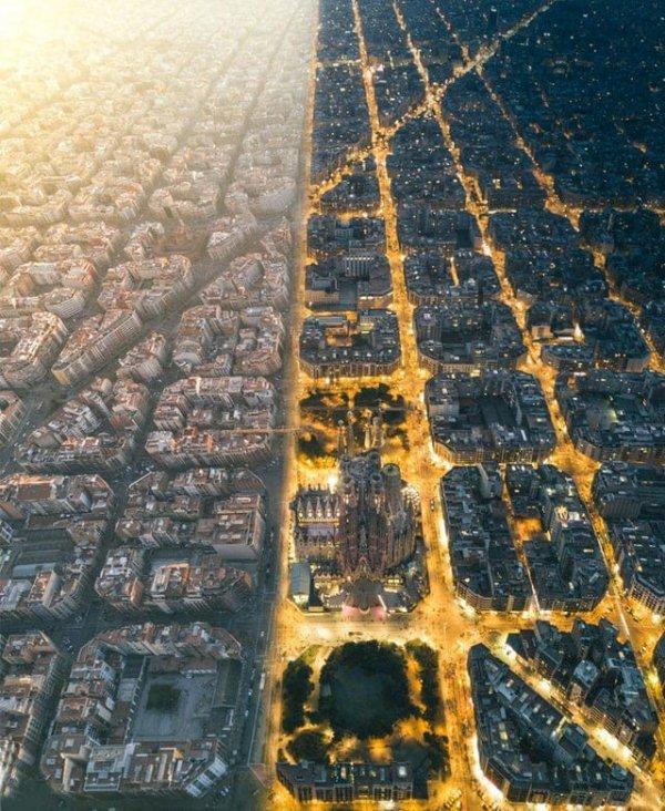 Барселона днём и ночью