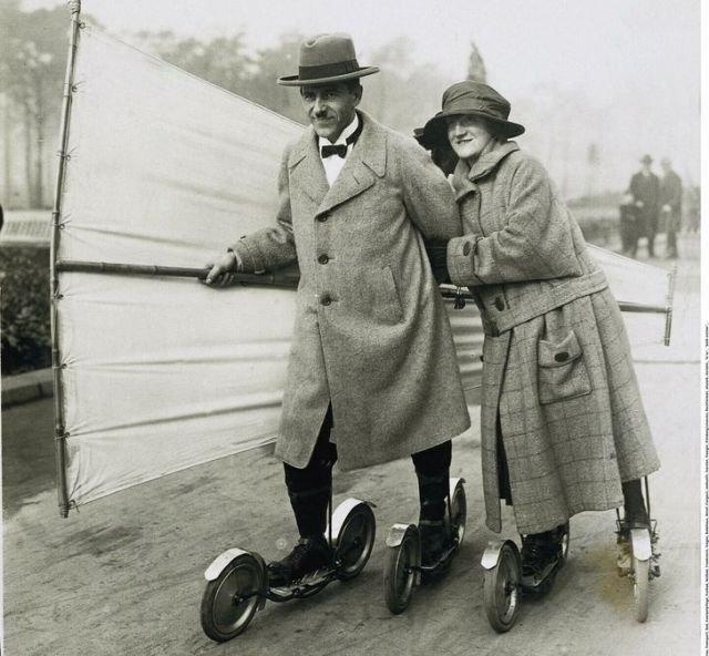 Демонстрация роликовых коньков, 1923 год