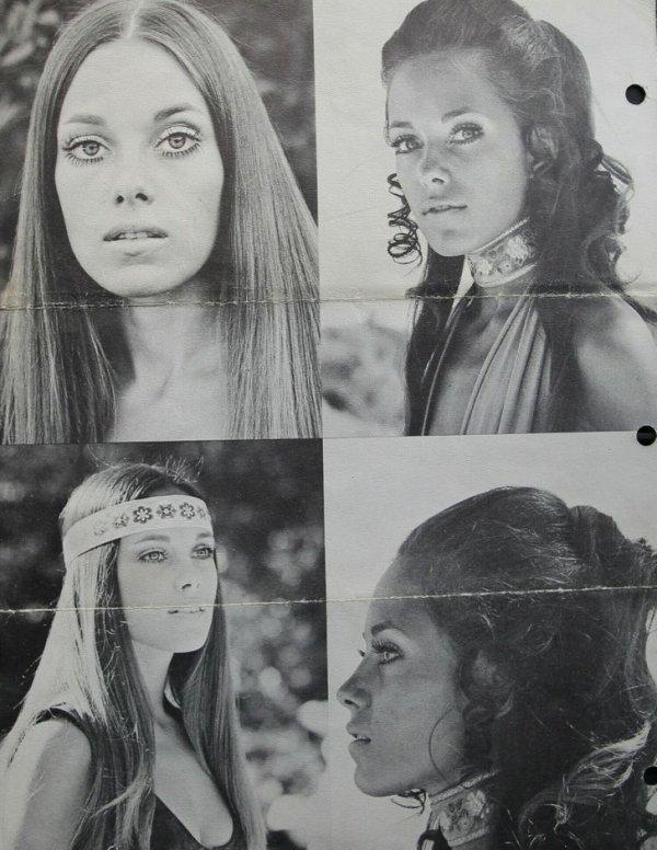 1970-е. Мама Анджелины Джоли Маршелин Бертран позирует для каталога модельного агентства