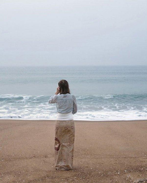 Растворилась в море