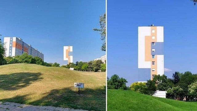 Дом в Венгрии, похожий на змейку