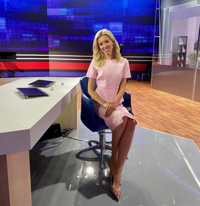 Екатерина Березовская - ведущая прямой линии с президентом Владимиром Путиным