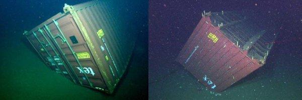 На дне морей и океанов тысячи потерянных грузовых контейнеров