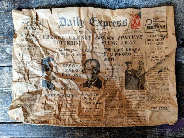 Я нашёл старую газету 1934 года под половицами своего лондонского дома