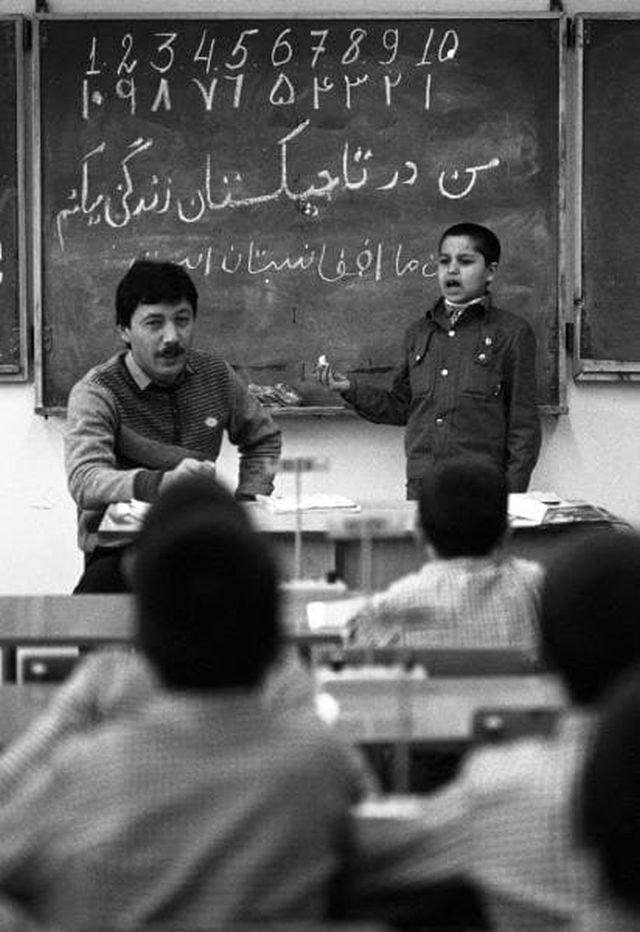 Школа-интернат для афганских детей в Душанбе (Таджикская ССР),1989 год.