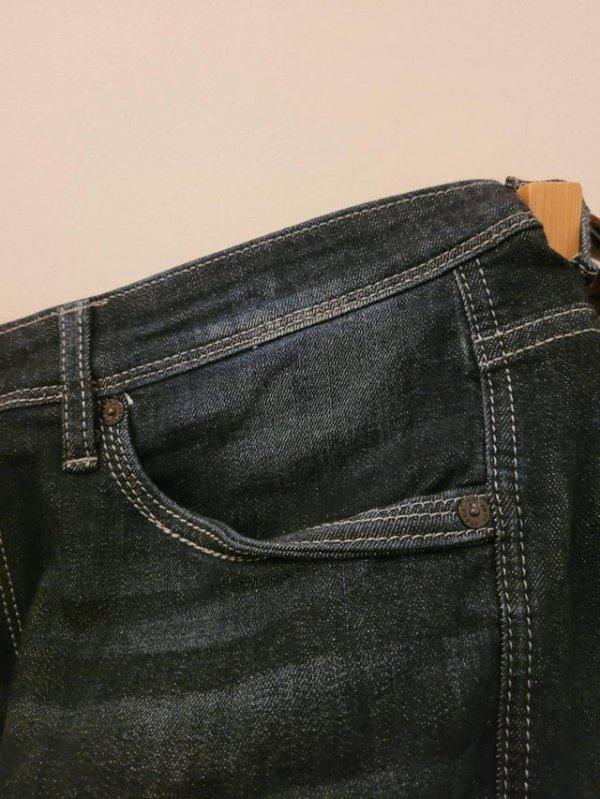 Карман джинсов прошит