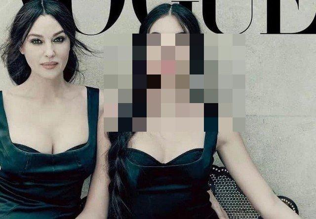 Моника Беллучии и Дева Кассель в черном платье