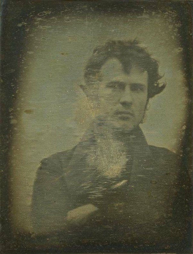 Самое первое известное селфи, 1839 год.