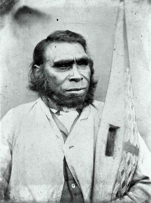 Один из последних коренных жителей Тасмании, истреблены британскими поселенцами, 1869 год.