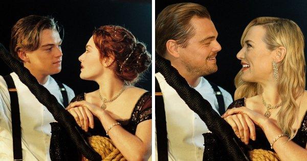 Леонардо Ди Каприо и Кейт Уинслет в фильме «Титаник» (1997)