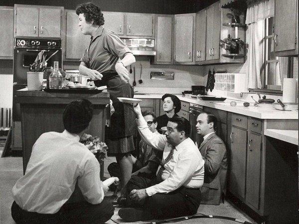 Съёмки кулинарного шоу в 1963 году