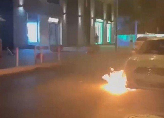 """В Петербурге в ЖК """"Царская столица"""" парень из окна выбросил газовый баллон"""