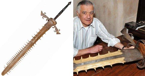Гигантский двуручный меч баварского курфюрста Максимилиана II, сделанный из рыбы-пилы, 1689 год