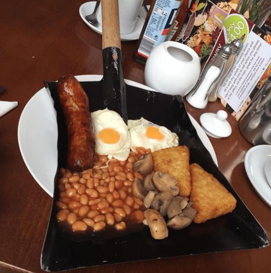 Английский завтрак на лопате