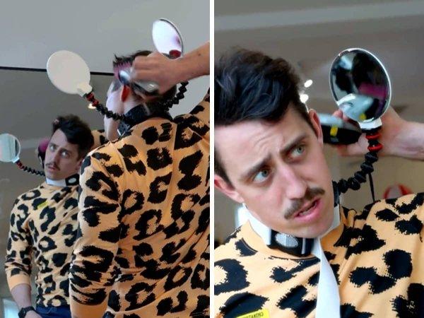 Комбинация из зеркал, благодаря которой вы сможете самостоятельно сделать себе причёску мечты