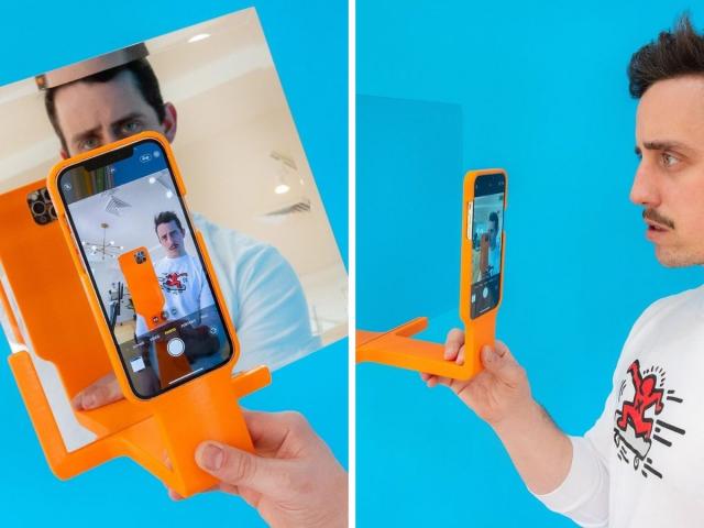 Чехол для телефона со встроенным зеркалом. Чтобы делать селфи в зеркале в любом месте!