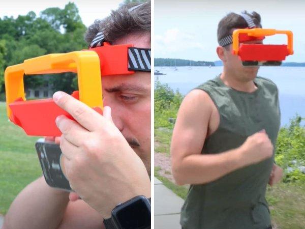 Специальный держатель для телефона для тех, кто даже во время бега не хочет отрываться от гаджета
