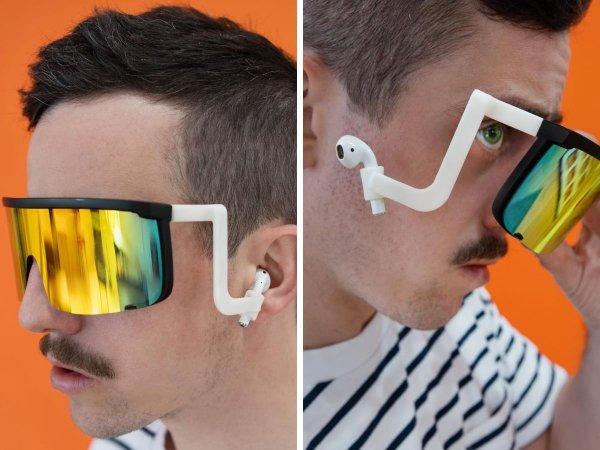 Очки с креплениями для наушников для тех, кто хочет и от солнца защититься, и музыку послушать