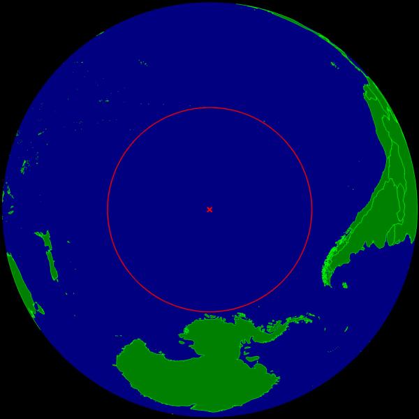 Точка Немо — условно обозначенное место в Тихом океане, которое находится в наибольшем отдалении от любой суши