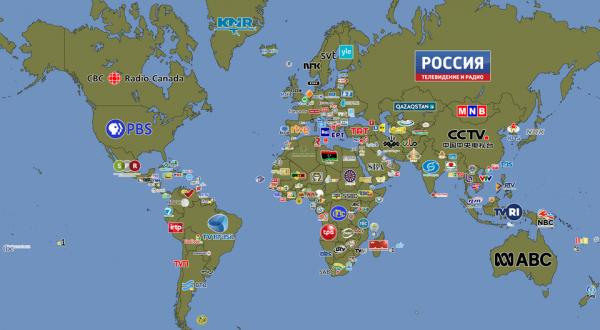 Крупнейшие службы телевещания в разных странах