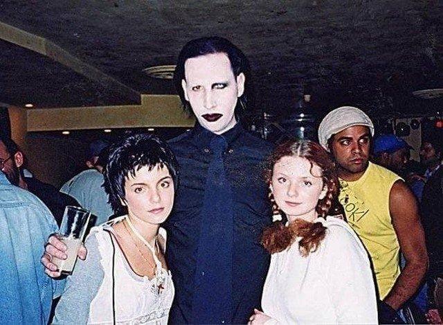Группа ТАТУ и Мэрилин Мэнсон, 2002 год.