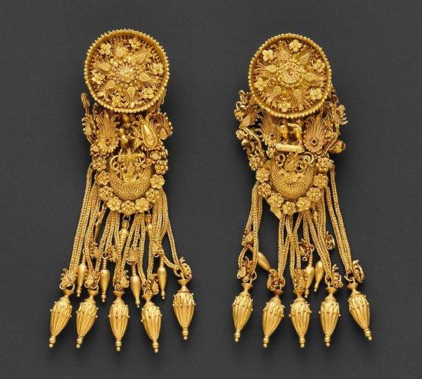 Золотые серьги. Древняя Греция, III в. до н. э.
