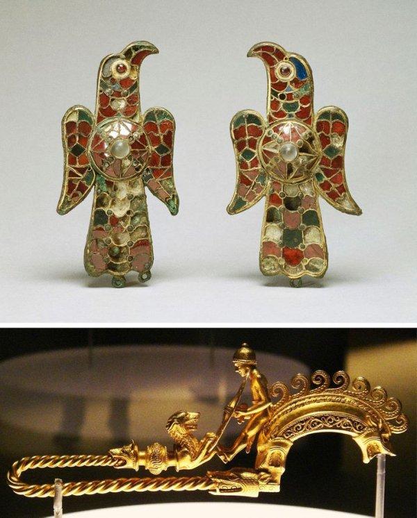 Фибулы: VI в. и III–II вв. до н. э. Эти металлические застежки-броши для одежды существовали 5 тысяч лет, пока не изобрели пуговицы