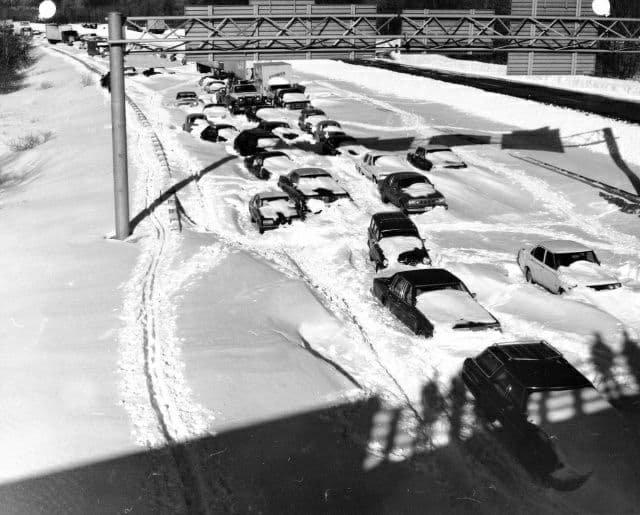 Сильнейшая метель накрывшая северо-восточную часть США, 1978 год.