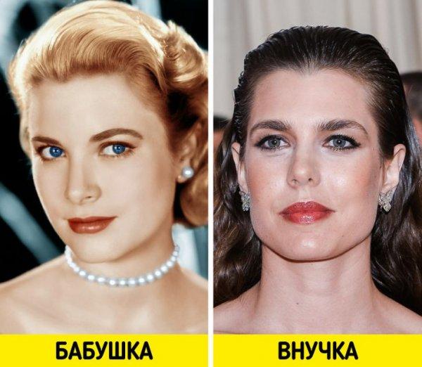 Грейс Келли и Шарлотта Казираги