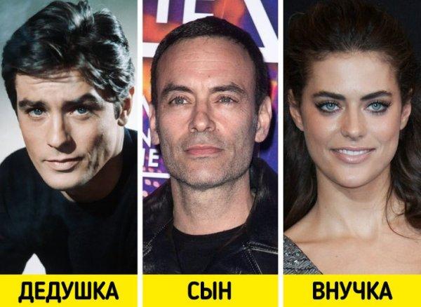 Ален Делон, Энтони Делон и Элисон Ле Борж