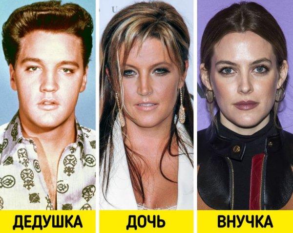 Элвис Пресли, Лиза Мари Пресли и Райли Кио