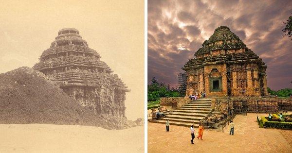Храм Солнца в Конараке, Индия: 1890 и сейчас