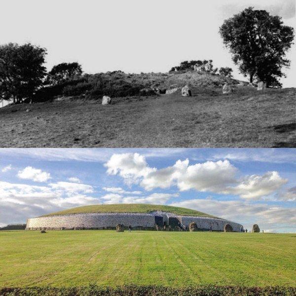 Гробница Ньюгрейндж, Ирландия: 1950-е годы и сейчас
