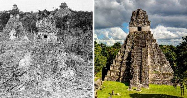 Тикаль, Гватемала: 1882 год и сейчас