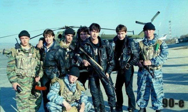Концерт группы На-на для российских солдат в Чечне, 1996 год