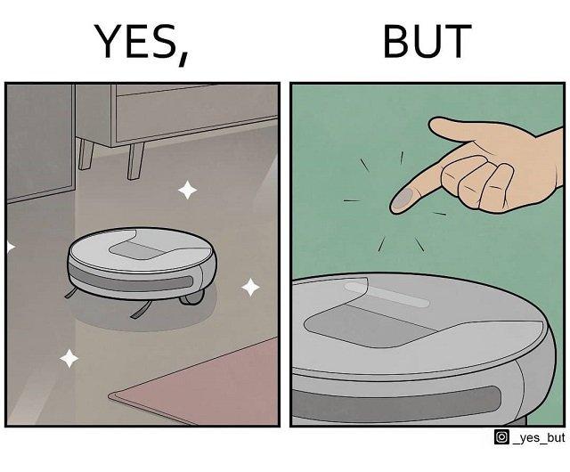 Пол-то чистый, а вот сам робот-пылесос — нет