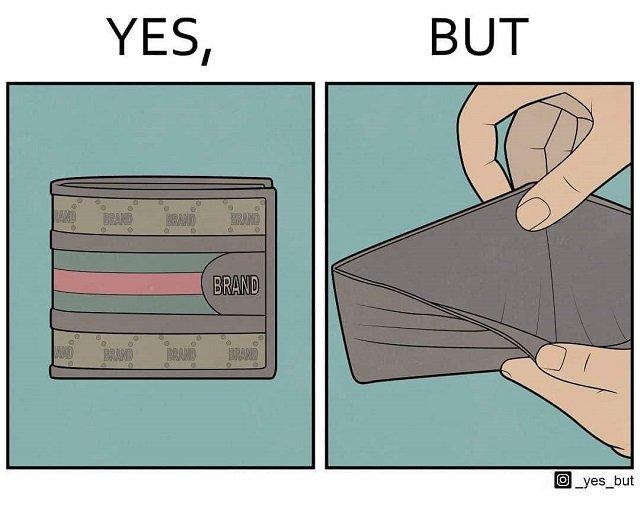 Брендовый, но пустой кошелёк