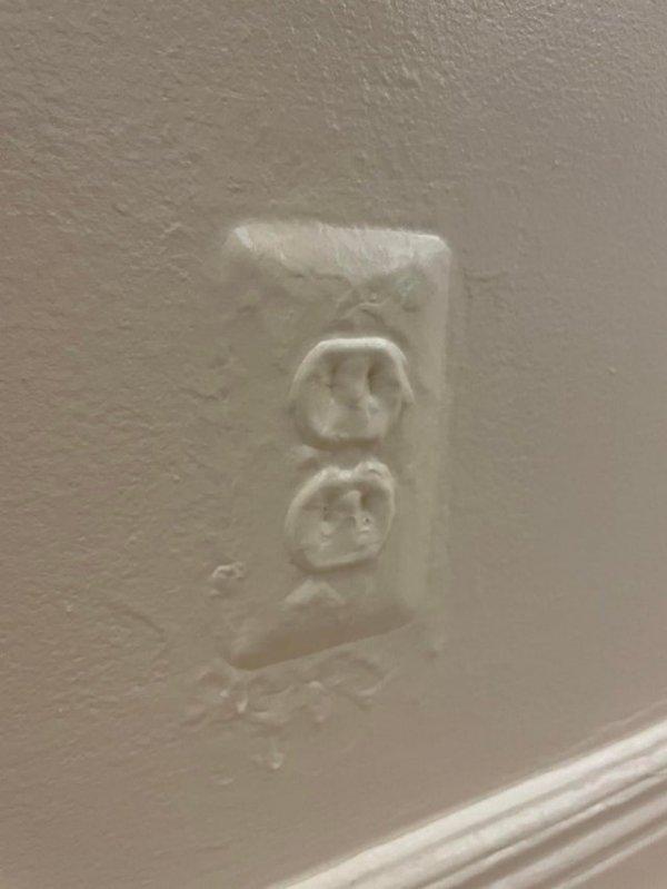 Отличная покраска стены