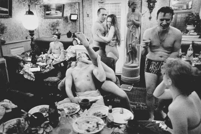В VIP–номере Сандуновских бань, Москва, 1997 год.