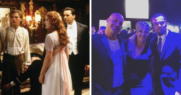 Билли Зейн, Кейт Уинслет и Леонардо Ди Каприо, снявшиеся в «Титанике»