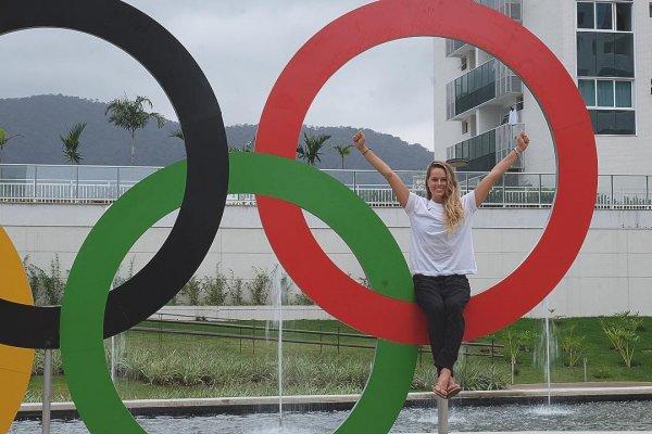 Куда же без фотографий на главном символе Олимпиады?